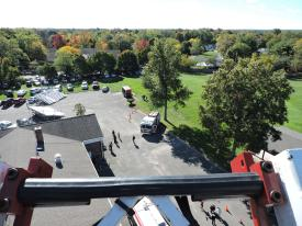 This is what you see at the top of a 100 foot ladder on 5A3-16. WOW!