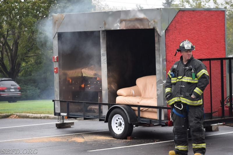 Fire Demonstration showing the importance of water sprinklers